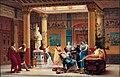 """Gustave Boulanger - Répétition du """"Joueur de flûte"""" et de la """"Femme de Diomède"""" chez le prince Napoléon - Orsay RF 1550.jpg"""