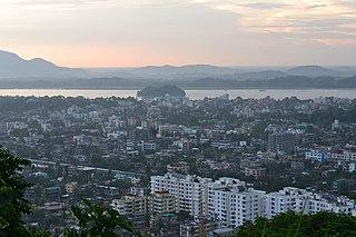 Guwahati Metropolis in Assam, India