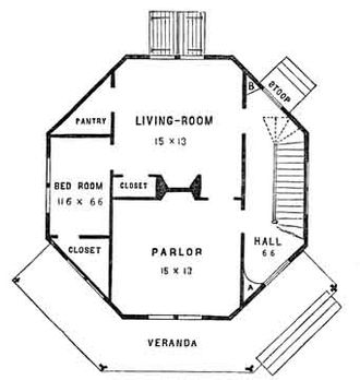Orson Squire Fowler - Plan of an octagon house