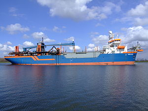 HAM 316 IMO 9160449 p4 at Nordsea channel, Port of Amsterdam, Holland.JPG