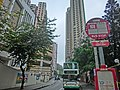 HK 北角半山 North Point Mid-Levels 雲景道 43-49 Cloud View Road Hanking Court NWFBus stop signs view Sky Horizon n Maiden Court facades.JPG