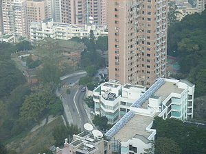 King Yin Lei - Aerial view of King Yin Lei, 45 Stubbs Road