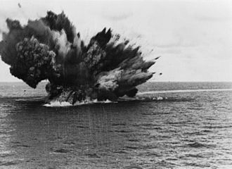 Mediterranean U-boat Campaign (World War II) - HMS Barham explodes as her 15 inch magazine ignites, 25 November 1941.