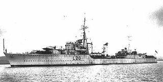 HMS <i>Gurkha</i> (F20) Tribal-class destroyer, Royal Navy, 1938