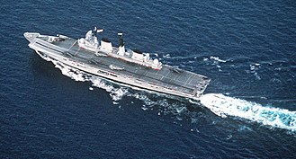 Invincible-class aircraft carrier - HMS Invincible in 1991