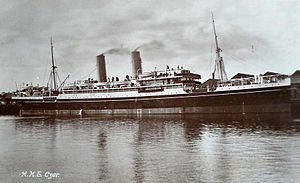 SS Czar - HMT Czar seen in port, c. 1917–1920
