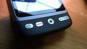 "HTC Desire - closeup of optic navigation ""..."