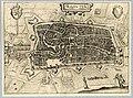 HUA-214013-Plattegrond van de stad Utrecht met directe omgeving; met stratenplan wegen en watergangen en gestileerde weergave van de bebouwing en het grondgebrui.jpg