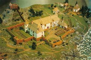 Habitation de Québec - Abitation de Quebec, 1608, established by Samuel de Champlain