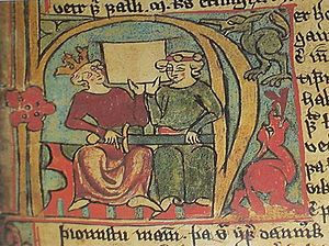 History of Shetland - Håkon Håkonsson and Skule Bårdsson depicted in the Icelandic manuscript Flateyjarbók from the 14th century