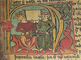Haakon IV of Norway - Haakon and Skule Bårdsson, from the 14th century Icelandic Flateyjarbók.