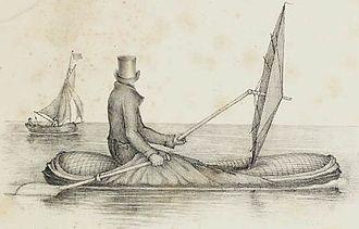 Halkett boat - Image: Halkett Boat Cloak in use cropped
