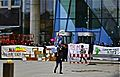 Hambi banner in front of the new ECB building in Frankfurt (15868679836).jpg