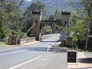 Hampden Bridge, Kangaroo Valley bridge in New South Wales, Australia