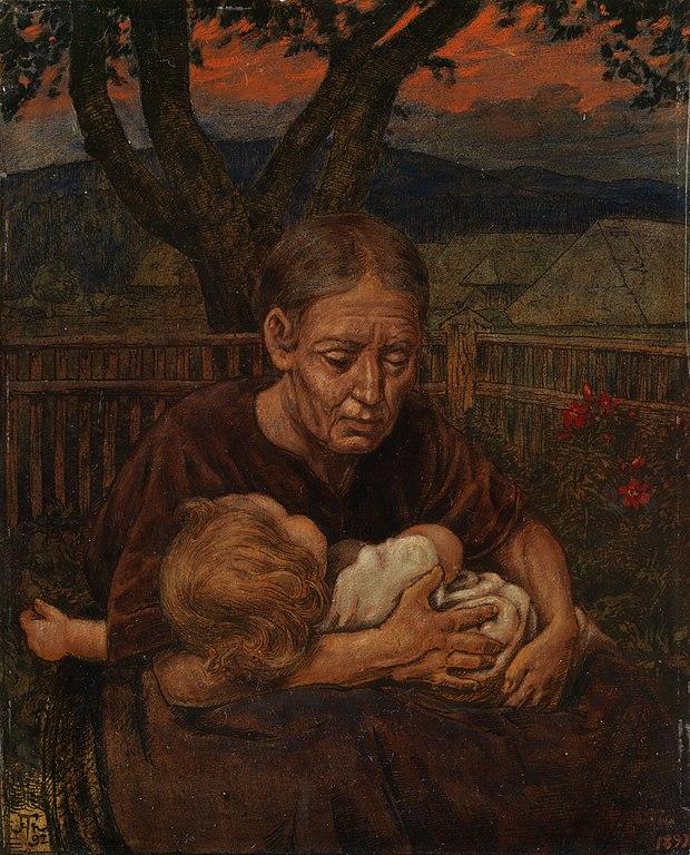 Großmutter mit einem Kleinkind