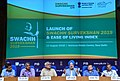 Hardeep Singh Puri addressing a press conference at the launch of the Protocol for Swachh Survekshan 2019, ODF+ & ODF++ toolkit; Swachh Manch portal and Ease of Living Index, in New Delhi (1).JPG