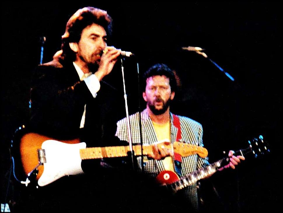 Harrison and Clapton (clip)