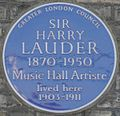 Harry Lauder 46 Longley Road blue plaque.jpg