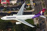 Hawaiian Airlines Airbus A330-243 (N386HA) on final approach at LAX.jpg