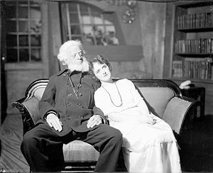 The North-West Passage - Albert Perry as Shotover and Elizabeth Risdon as Ellie Dunn in the original 1920 production of Heartbreak House