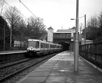 Heaton Park tram stop - Image: Heaton Park station geograph.org.uk 714513