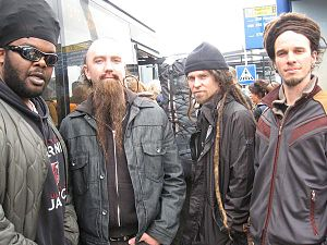Heavyweight Dub Champion - (from left to right) Stero-Lion, Totter Todd, Resurrector and Patch in Amsterdam, 2007