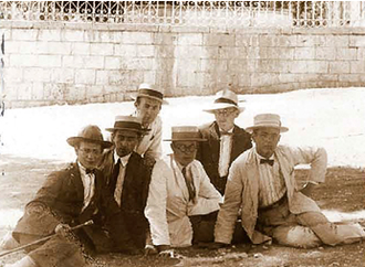 Hebron Yeshiva - Hebron yeshiva students, circa 1920s. All but one of these students perished in the pogrom.