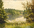 Henri Biva, Lake Scene, oil on canvas, 60 x 73 cm.jpg