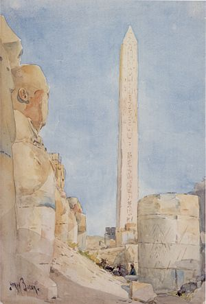 Henry Bacon (painter) - Image: Henry A. Bacon 'Obelisk Karnak in 1900', watercolor over graphite by Henry A. Bacon, 1900