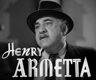 Henry Armetta Italian-American actor