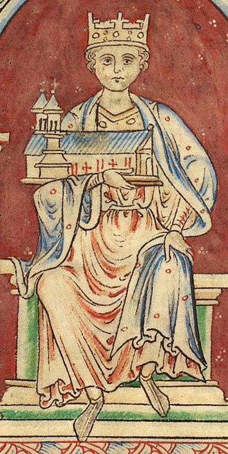 Fergus of Galloway - Henry I, King of England as depicted in British Library Royal MS 14 C VII.