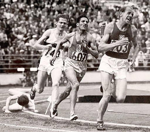 Herbert Schade, Alain Mimoun, Emil Zátopek 1952