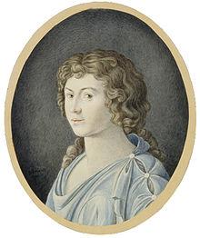 Karoline Herder, geb. Flachsland, Kopie von Anna Gerhardt (1941) nach einem Aquarell aus dem Jahr 1770, Gleimhaus Halberstadt (Quelle: Wikimedia)
