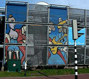 Herman Brood - Murals by Brood on a parking garage in Leidschendam.