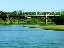 Hertzog Bridge, Aliwal North, viewed from the Orange River.jpg