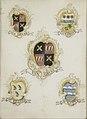 Het wapen van Anna Digna van Gelre, echtgenote van Laurens Jacobsz de Witte, met de wapens van haar vier grootouders Rijksmuseum SK-A-937.jpeg
