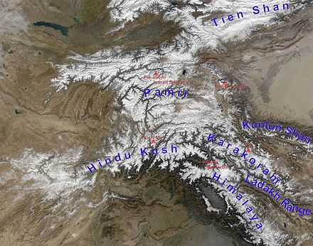 Bactria between the Hindu Kush (south), Pamirs (east), south branch of Tianshan (north). Ferghana Valley to the north; western Tarim Basin to the east.