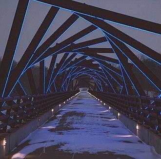 High Trestle Trail - High Trestle Bridge at night
