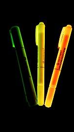 Highlighters under an UV light.jpg
