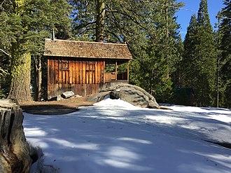 Wilsonia, California - A historic cabin in Wilsonia, California.