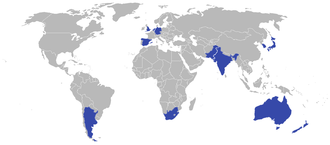 2006 Men's Hockey World Cup - Participating nations