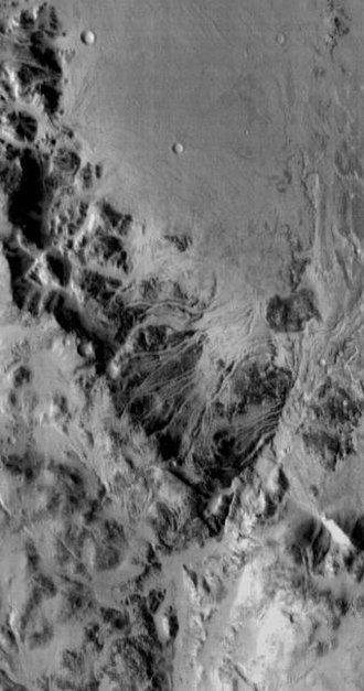 Holden (Martian crater) - Image: Holden Crater Close up