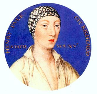 Henry FitzRoy, 1st Duke of Richmond and Somerset - Portrait miniature, at age 15