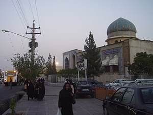 Bahá'í pilgrimage - Location of the House of the Báb, Shiraz, Iran as it appeared in 2008. The electricity pole indicates the site of the Declaration of the Báb