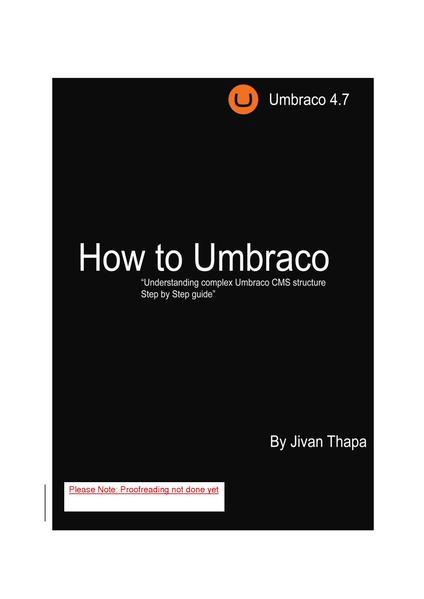 Umbraco User's Guide by Nik Wahlberg PDF/EPUB download
