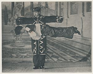 Howard Thurston - Thurston performing a levitation illusion.