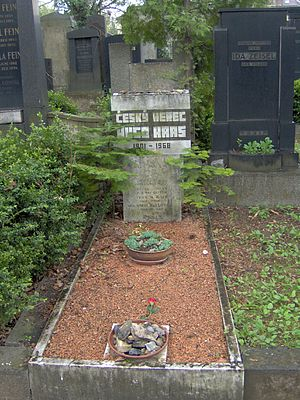 Hugo Haas - Grave of Hugo Haas at the Jewish Cemetery in Brno