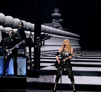 "Hung Up - Madonna performing a rock version of  ""Hung Up"" during the 2008 leg of the Sticky & Sweet Tour."