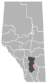 Hussar, Alberta Location.png