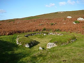 Hut circle, Holyhead Mountain. - geograph.org.uk - 1149808.jpg